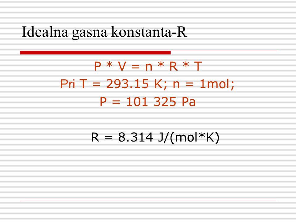 Idealna gasna konstanta-R