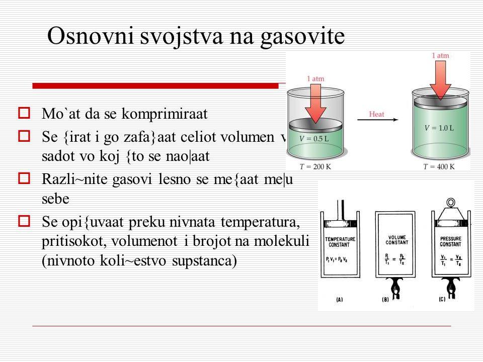 Osnovni svojstva na gasovite