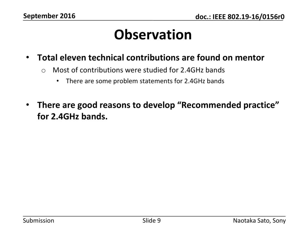 Observation Total eleven technical contributions are found on mentor