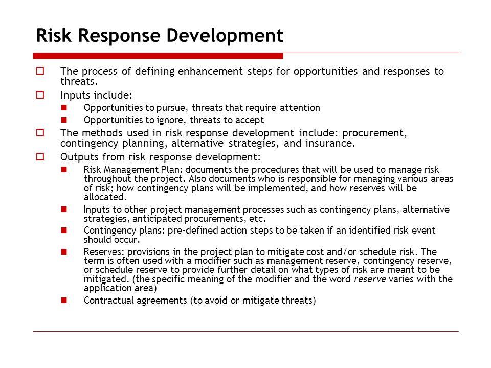 Risk Response Development