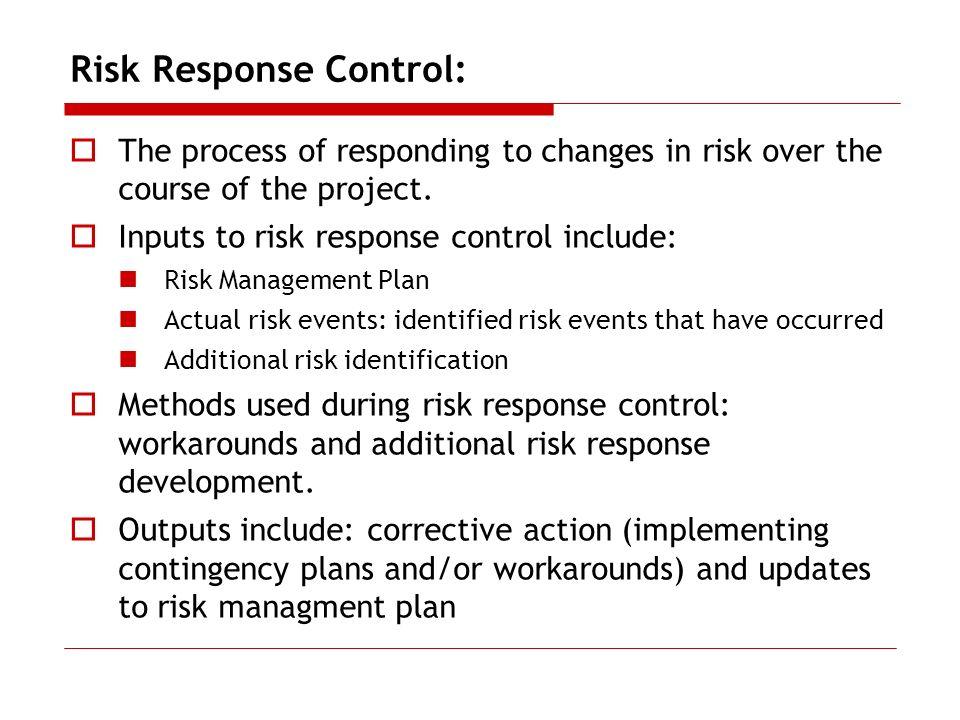 Risk Response Control:
