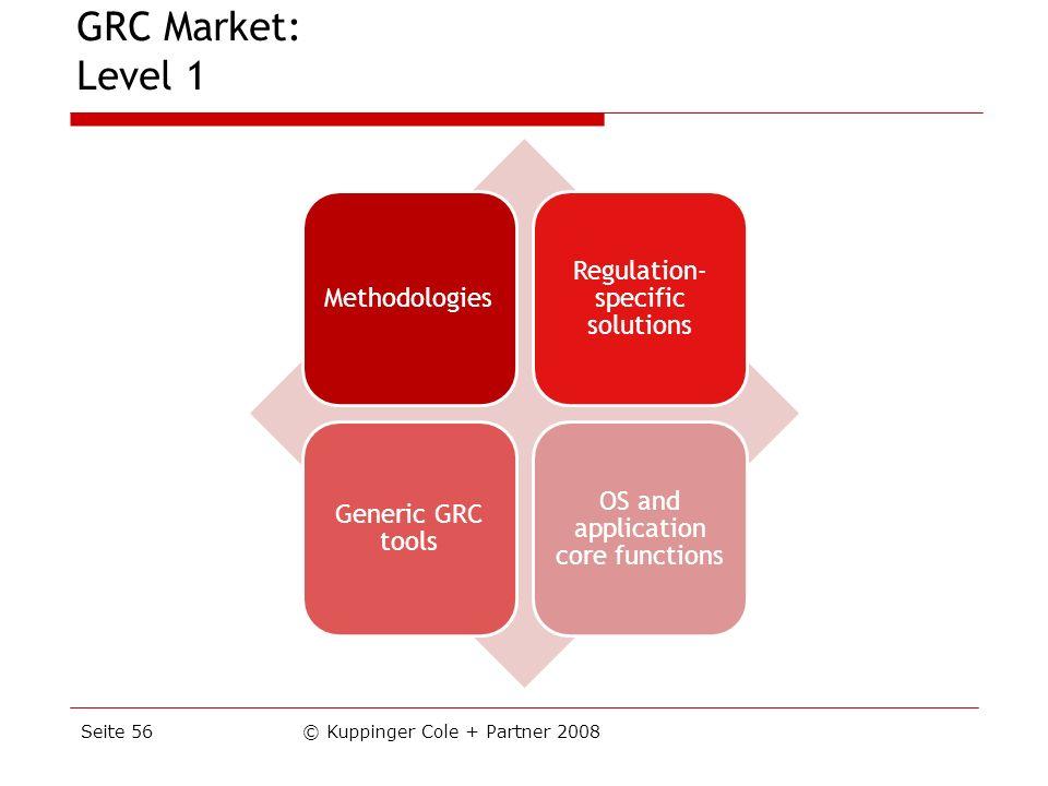 GRC Market: Level 1 Seite 56 © Kuppinger Cole + Partner 2008