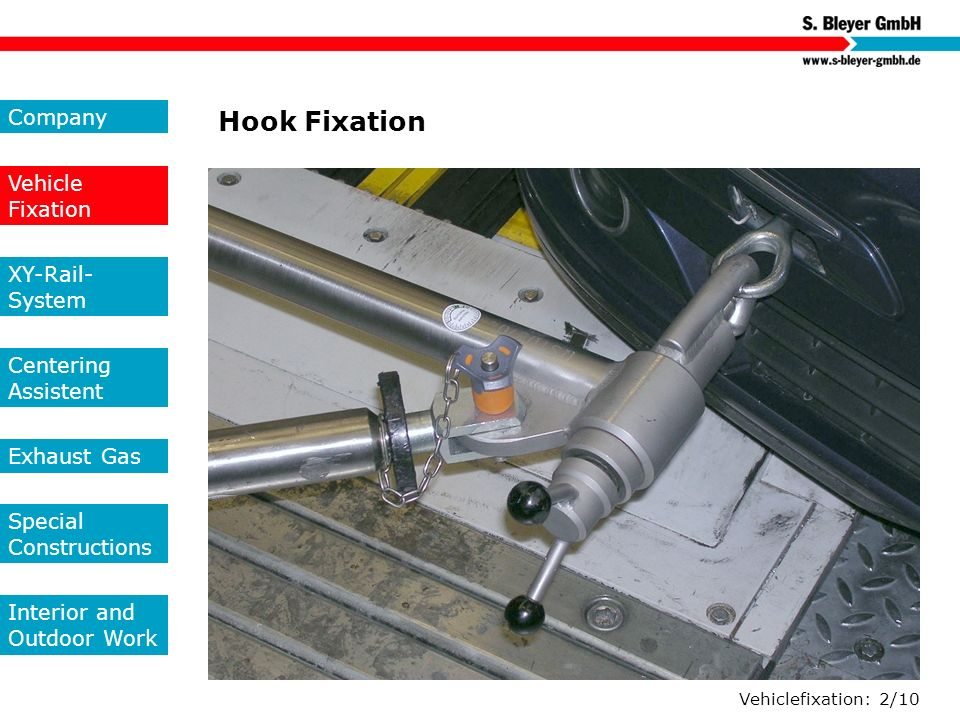 Hook Fixation Company Vehicle Fixation XY-Rail-System