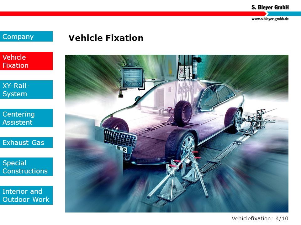 Vehicle Fixation Company Vehicle Fixation XY-Rail-System