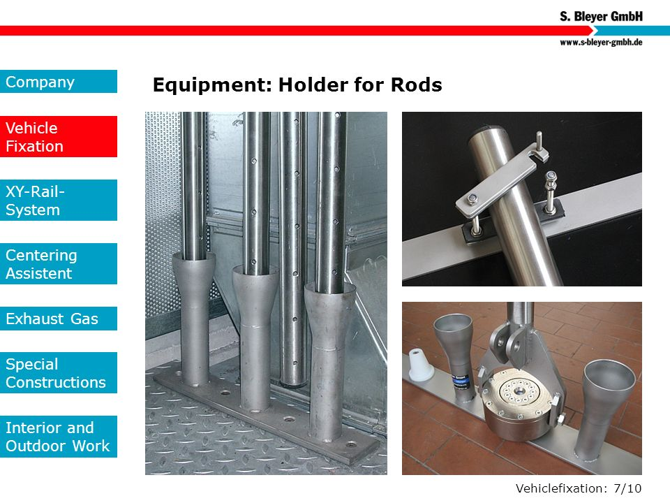 Equipment: Holder for Rods
