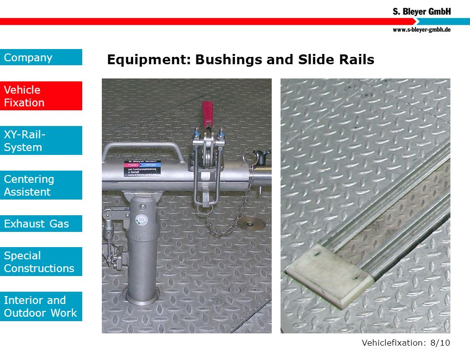 Equipment: Bushings and Slide Rails