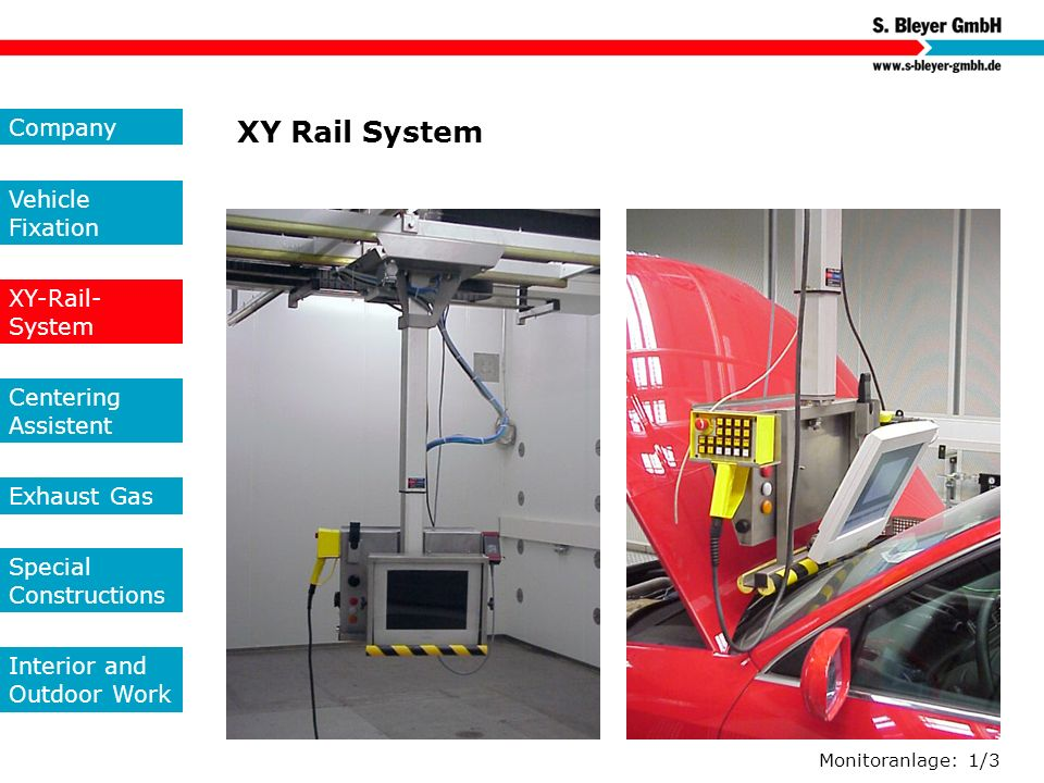 XY Rail System Company Vehicle Fixation XY-Rail-System