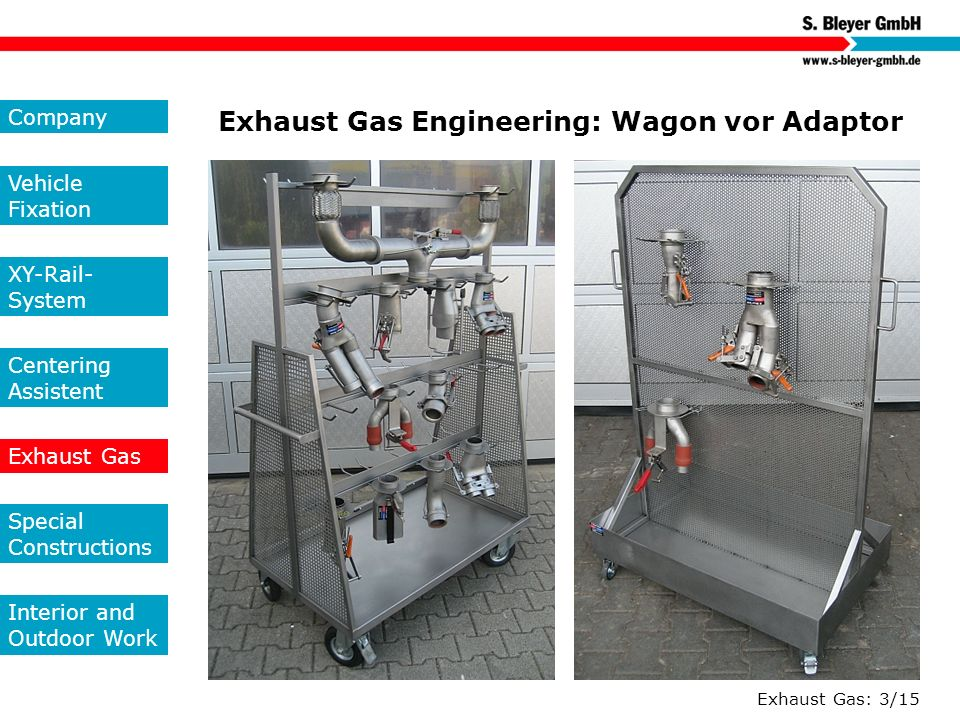 Exhaust Gas Engineering: Wagon vor Adaptor