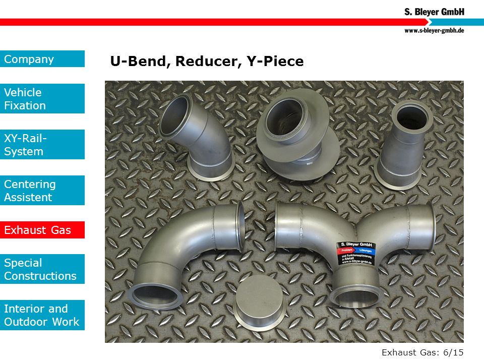 U-Bend, Reducer, Y-Piece