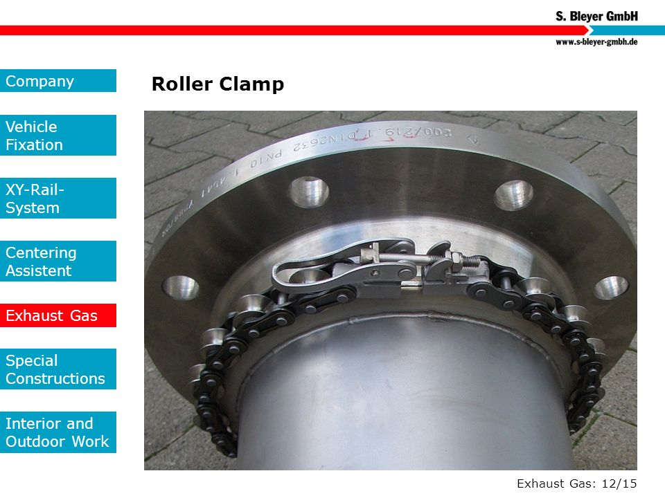 Roller Clamp Company Vehicle Fixation XY-Rail-System