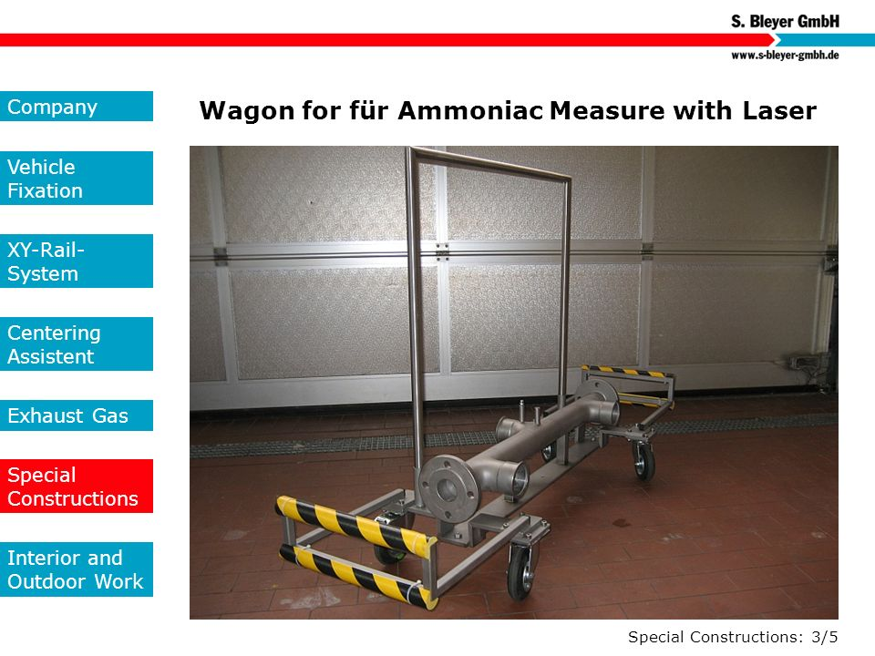 Wagon for für Ammoniac Measure with Laser
