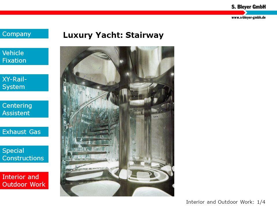 Luxury Yacht: Stairway