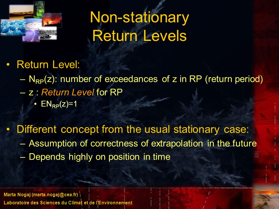 Non-stationary Return Levels