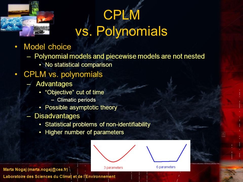 CPLM vs. Polynomials Model choice CPLM vs. polynomials