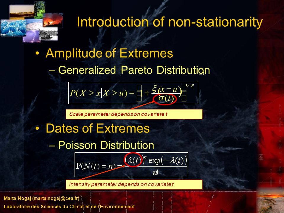 Introduction of non-stationarity
