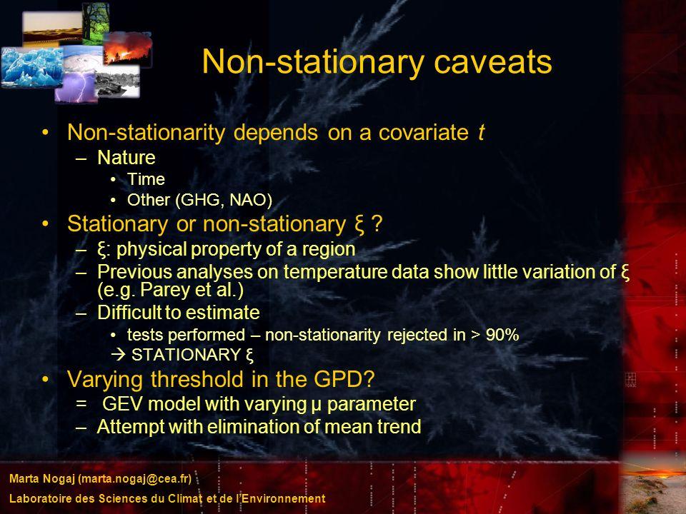 Non-stationary caveats