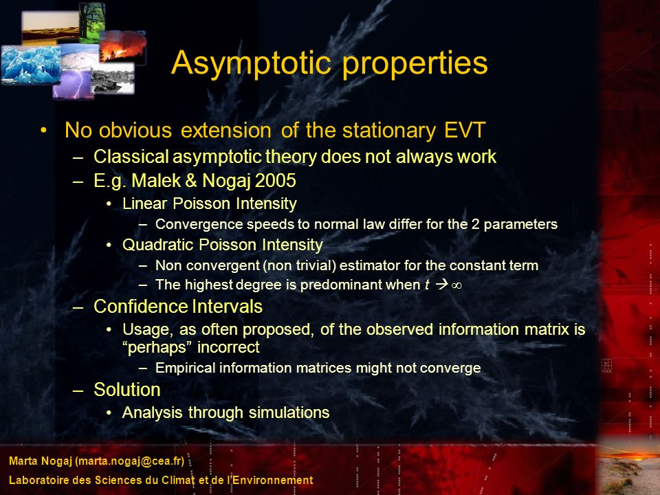 Asymptotic properties