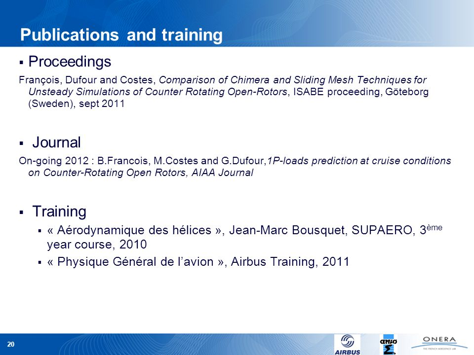 Publications and training