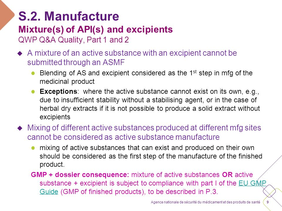 S.2.2. Description of the manufacturing process and process controls