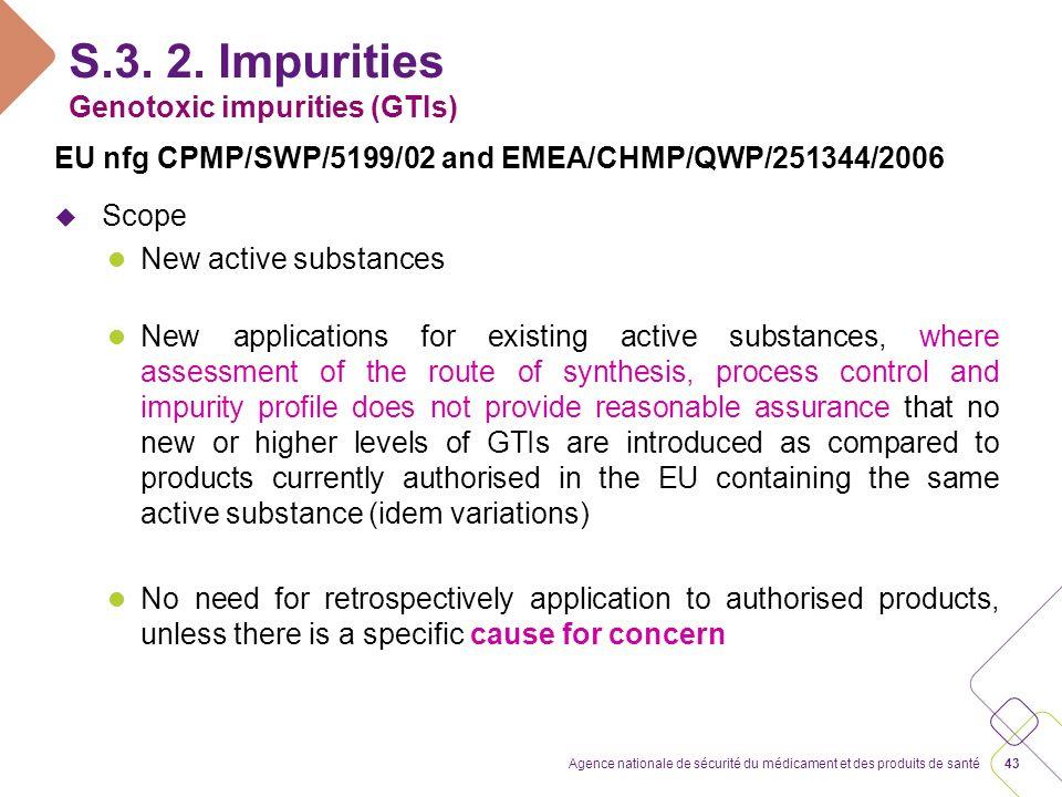 S.3. 2. Impurities Genotoxic impurities (GTIs)