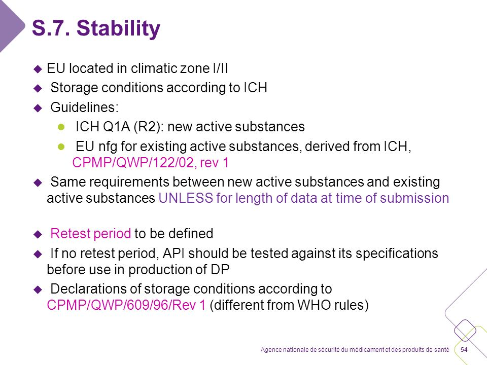 Conclusion From a pharmaceutical quality point of view, no difference is made between new active substances and existing or known active substances.