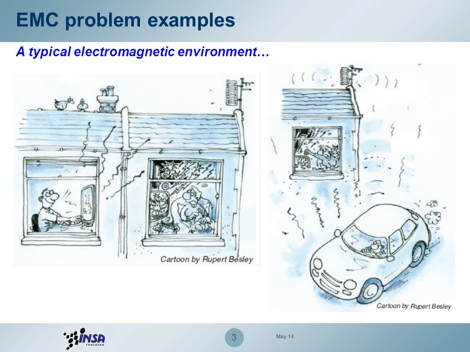 EMC problem examples A typical electromagnetic environment… March 17