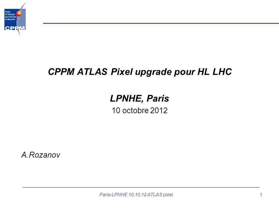 CPPM ATLAS Pixel upgrade pour HL LHC