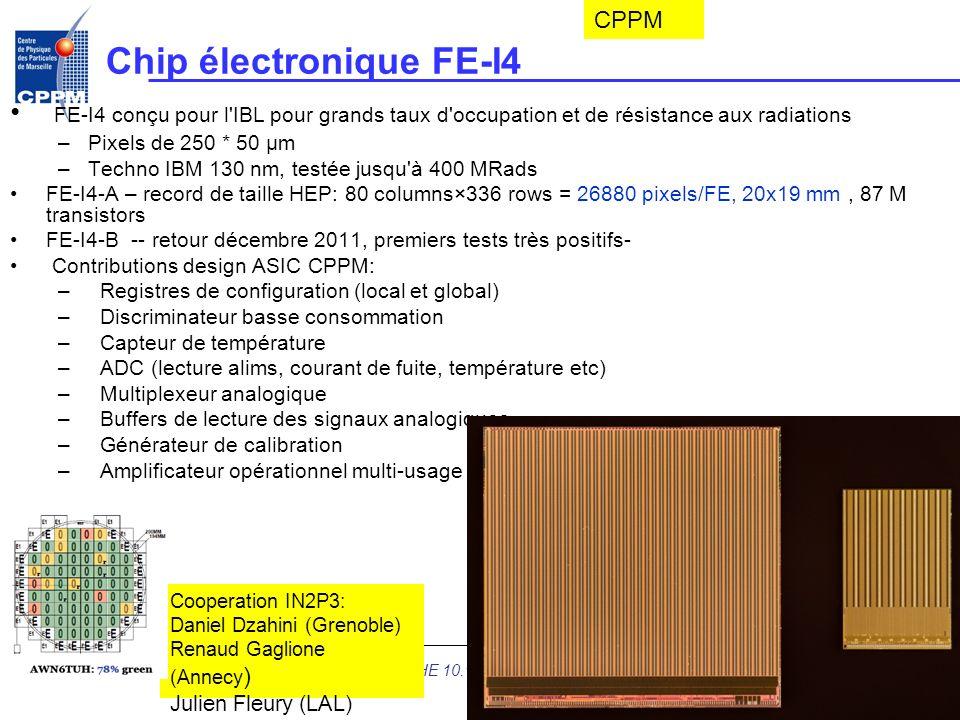 Chip électronique FE-I4