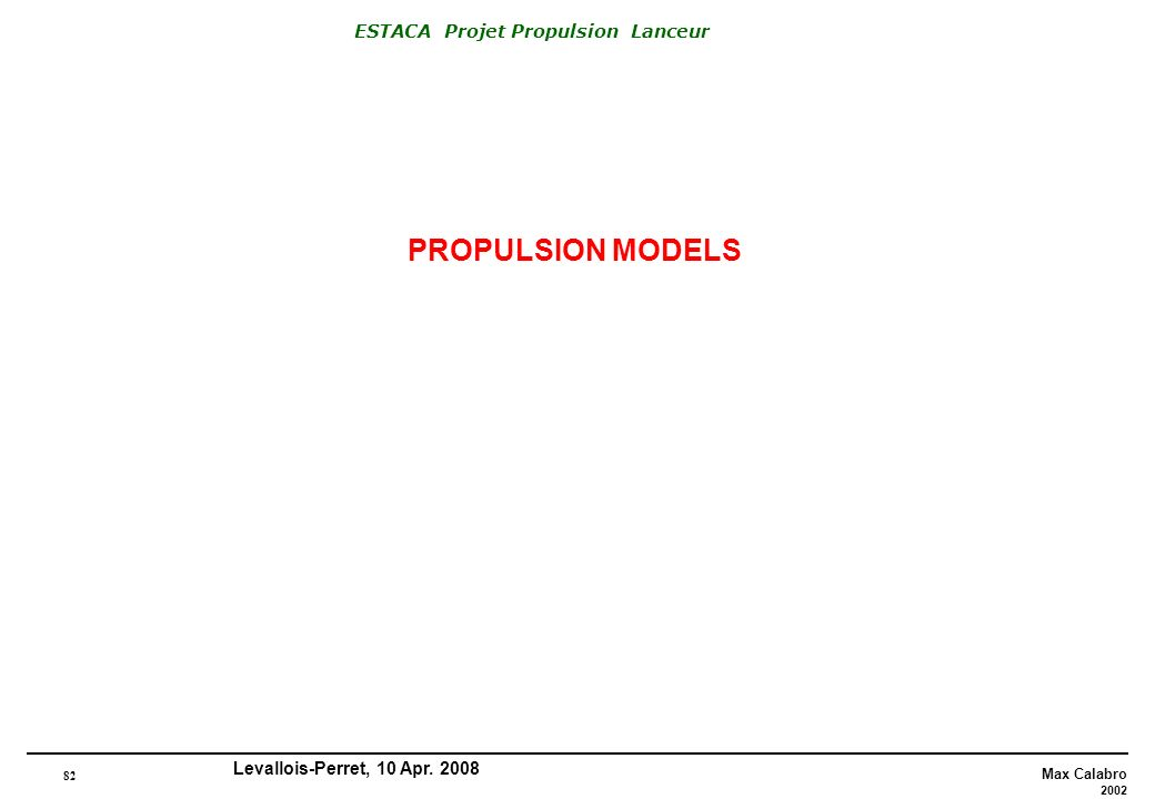 PROPULSION MODELS