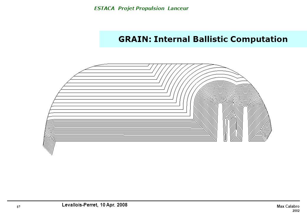 GRAIN: Internal Ballistic Computation