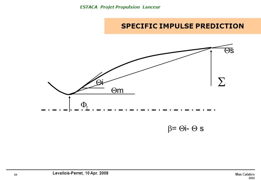 SPECIFIC IMPULSE PREDICTION