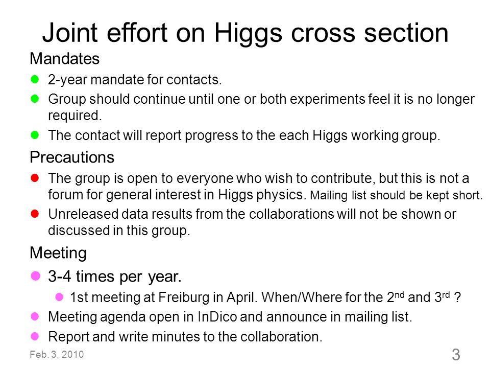 Joint effort on Higgs cross section