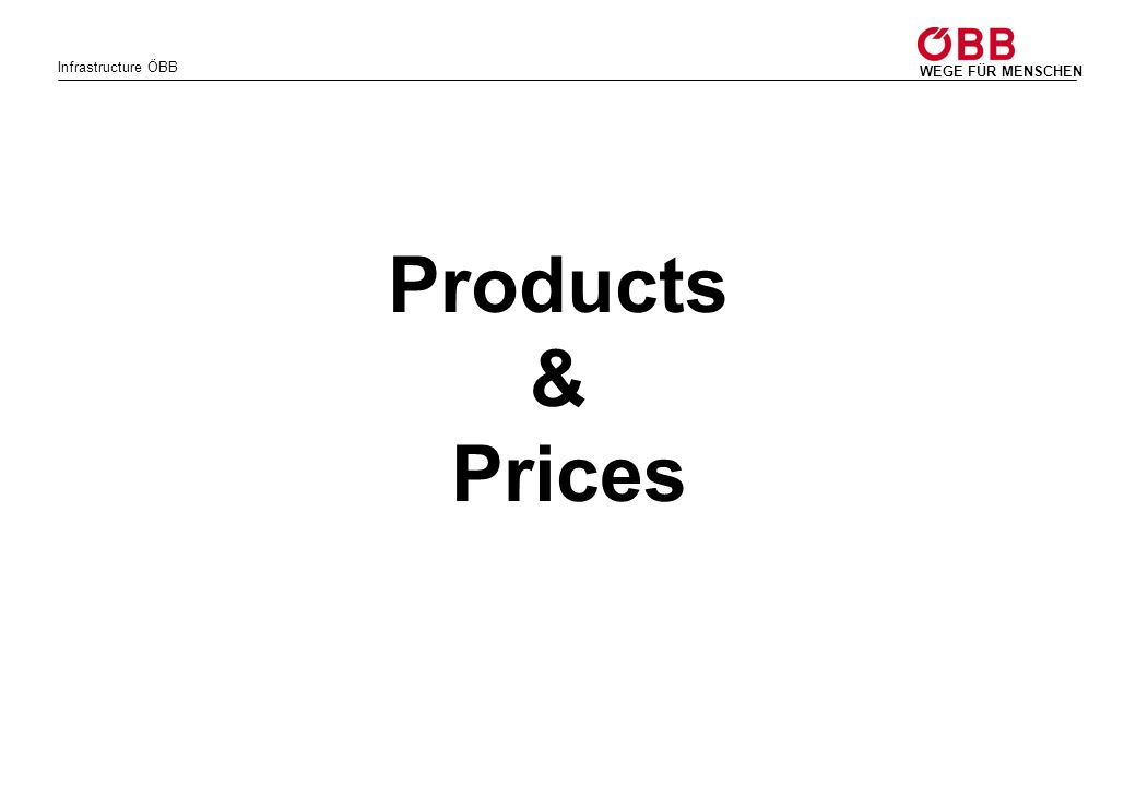Products & Prices