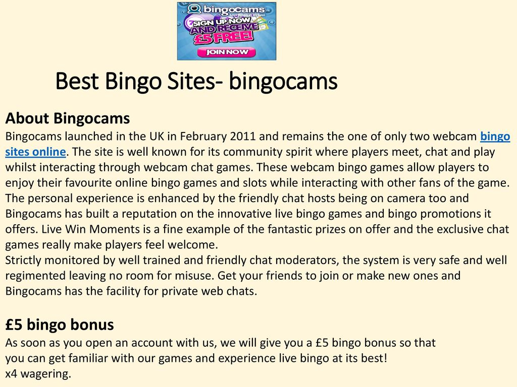 play with bingocams (best bingo sites uk) - ppt download