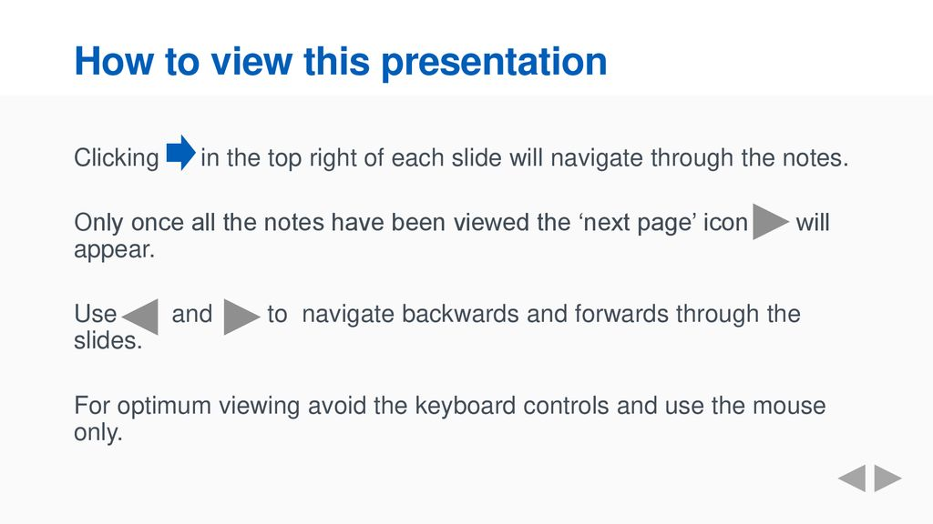 How to view this presentation