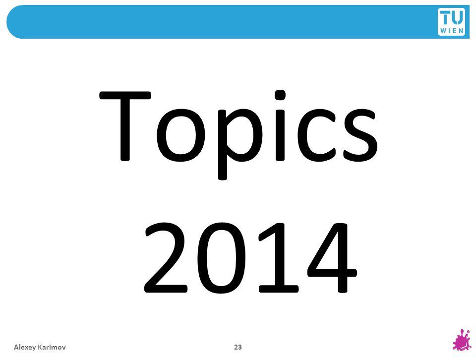 Topics 2014 Alexey Karimov