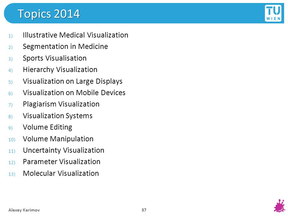 Topics 2014 Illustrative Medical Visualization