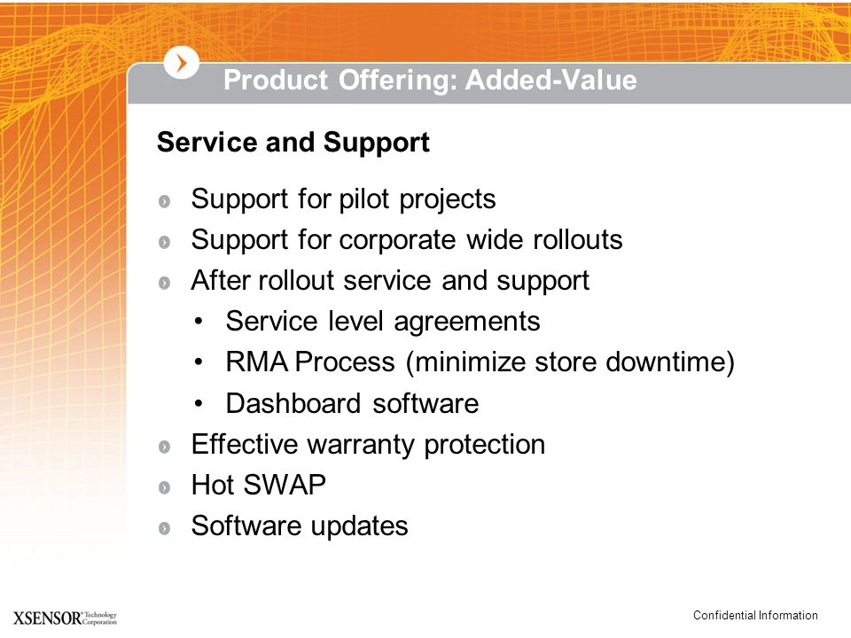 Product Offering: Added-Value