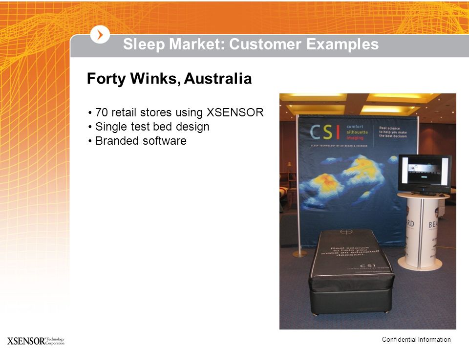 Sleep Market: Customer Examples