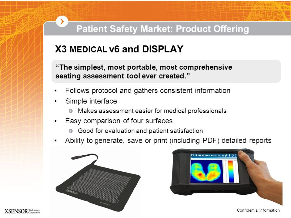 X3 MEDICAL v6 and DISPLAY Patient Safety Market: Product Offering