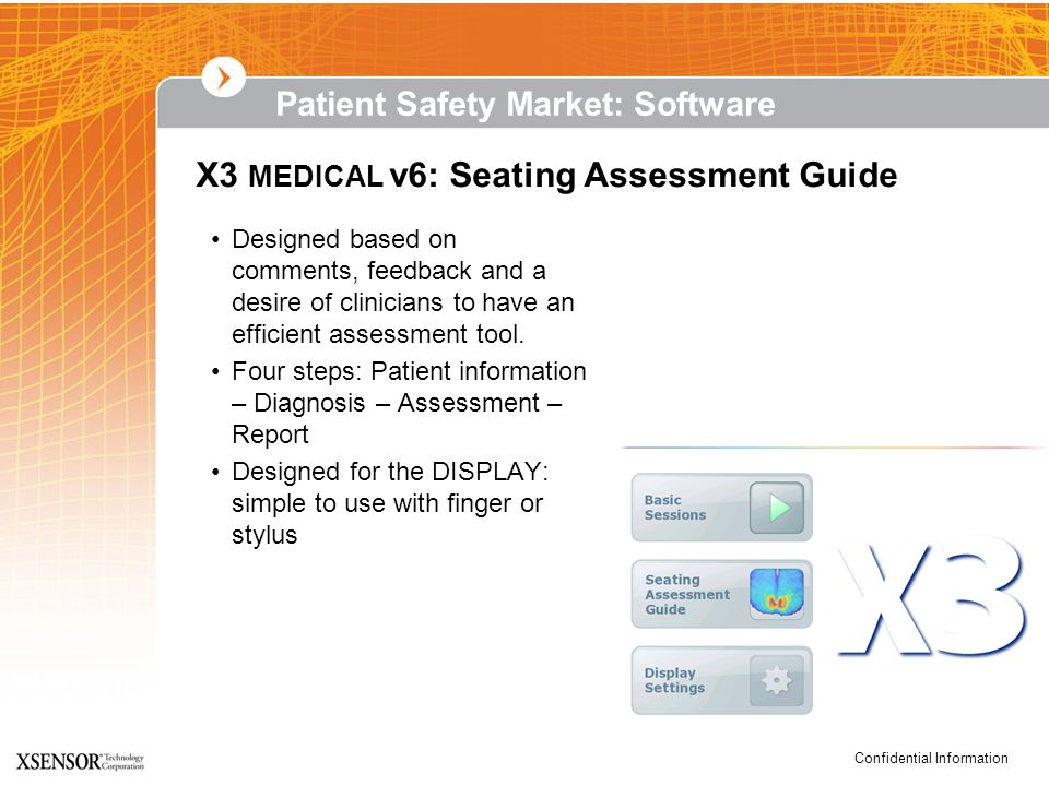 X3 MEDICAL v6: Seating Assessment Guide