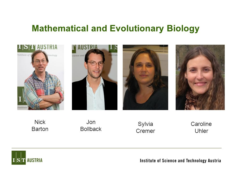 Mathematical and Evolutionary Biology