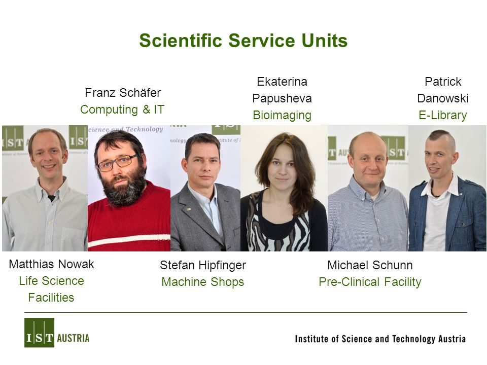 Scientific Service Units