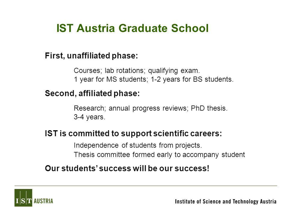 IST Austria Graduate School