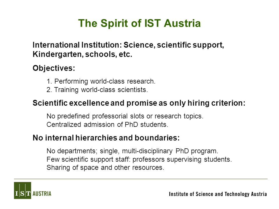 The Spirit of IST Austria