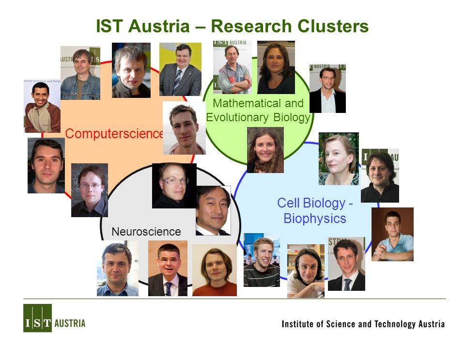 IST Austria – Research Clusters