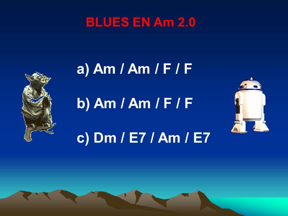 BLUES EN Am 2.0 Am / Am / F / F Dm / E7 / Am / E7