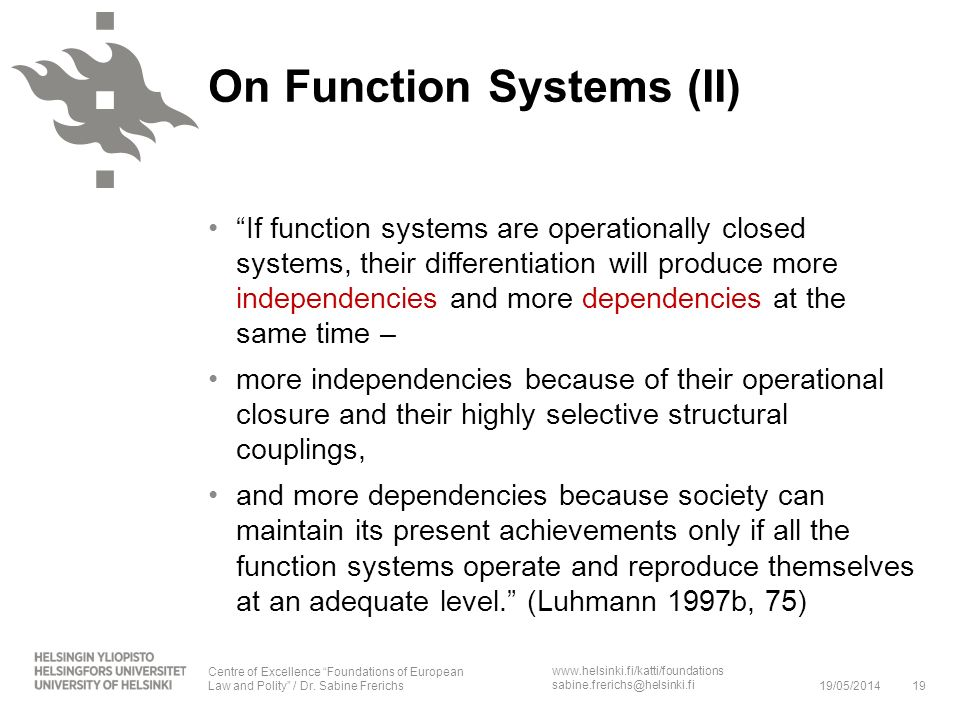 On Function Systems (II)