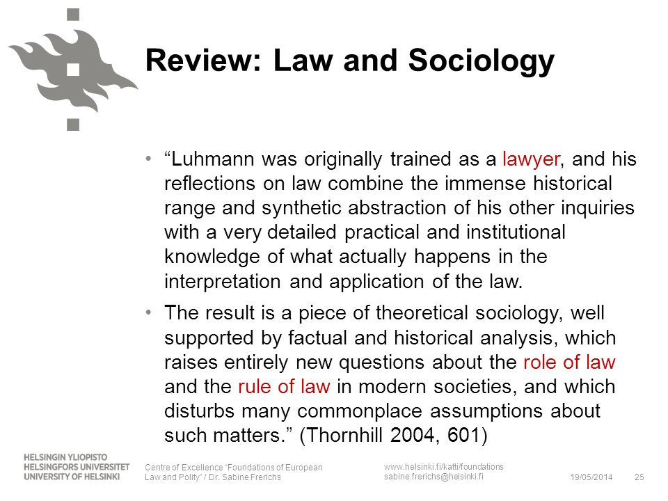 Review: Law and Sociology