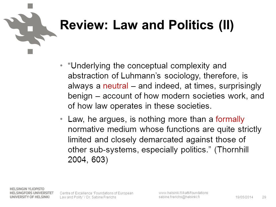 Review: Law and Politics (II)